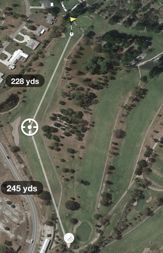 aerial photo of Hole 1 Par 5 470 Yards