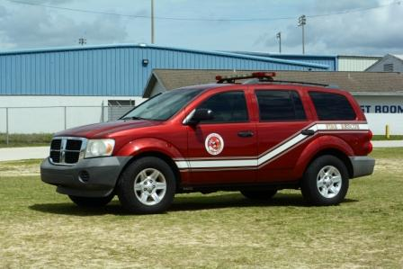 Command 14, Dodge Durango, red with emergency lights